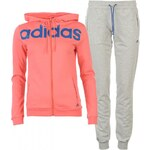 Adidas Linear Ladies Tracksuit, blush/eqtblue