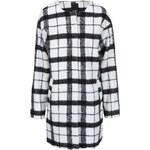 Černo-bílý kostkovaný kabát ICHI Tiu