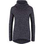 Tmavě modrý žíhaný svetr s rolákem Vero Moda Jive