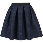 Tmavě modrá vzorovaná sukně Closet