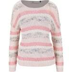 Růžovo-krémový pruhovaný svetr ONLY Micca