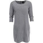 Bílo-šedé pruhovné šaty s 3/4 rukávy ONLY Emma