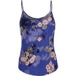 Modré květované tílko Vero Moda Super Easy