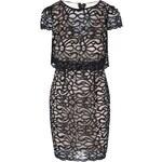 Béžové šaty s černou krajkou Lipstick Boutique Eva