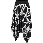 Černá sukně s krémovým vzorem Desigual Sophia