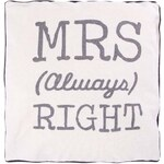 Béžový polštář Sass & Belle MRS Always Right