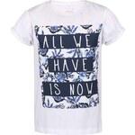 Bílé holčičí triko s textem name it Glitterish