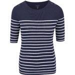 Tmavě modrý dámský pruhovaný svetr s 3/4 rukávem Nautica