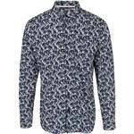 Krémovo-modrá vzorovaná košile Selected Pass