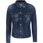 Tmavě modrá kratší džínová bunda Selected Noel
