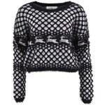 Černý kratší svetr s jeleny Vero Moda