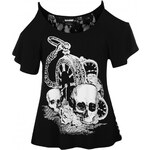 Banned Banned Crop T Shirt Ladies, skull