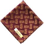 Boom Bow Vínovozlatý hedvábný kapesníček do saka