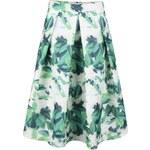 Bílo-zelená květovaná sukně Apricot