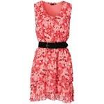 BODYFLIRT Šifonové šaty s páskem bonprix