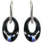 Šperky LAFIRA Style Stříbrné náušnice Helios 20mm Silver Night Swarovski Elements - LSW133