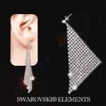 Šperky LAFIRA Style Stříbrné náušnice Dazzle Crystal Swarovski Elements 515
