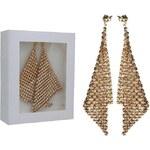 Šperky LAFIRA Style Pozlacené stříbrné náušnice Swarovski Dazzle Golden 824