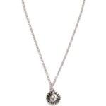 GUESS náhrdelník Silver-Tone Logo Button Necklace stříbrný vel.