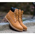 Timberland 6 in Premium Wheat Nubuc Yellow