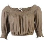 Glamorous Cropped Gypsy Top, khaki