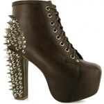 Jeffrey Campbell Lita Spike Shoes, brown leather