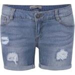 Světle modré džínové kraťasy s roztrhaným efektem Vero Moda Be Five