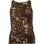 Glamorous Leopard Ladies Sleeveless Top, natural leopard