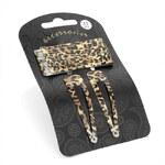 Sponky do vlasů 26698 leopard - 12 ks