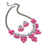 SET: Růžový náhrdelník a náušnice Alina 29244