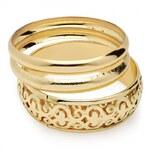 SET: Tři náramky ve zlaté barvě Zaina 29422