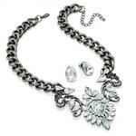 SET: Šedý náhrdelník a náušnice Rossie 29548