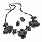 SET: Černý náhrdelník a náušnice Milla 29765