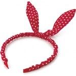 Červená čelenka do vlasů Rabbit 26818