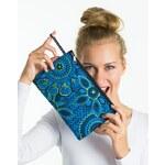 Thao Kosmetická taška - Spooted modrá se žlutým kvítím