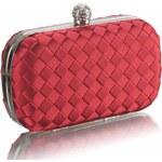 LS Fashion společenská kabelka LS0213 červená