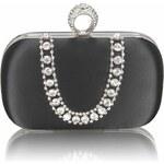 LS Fashion společenská kabelka LS0225 černá