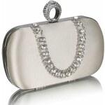 LS Fashion společenská kabelka LS0225 ivory