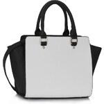 LS Fashion Kabelka LS00150B černobílá