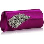 LS Fashion společenská kabelka LSE0078 fialová