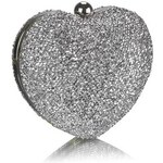 LS Fashion společenská kabelka LS0263 stříbrná