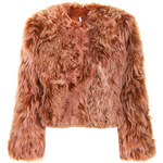 Topshop Dipped Ginger Fur Crop Jacket