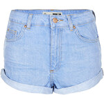 Topshop MOTO Blue High Waisted Hotpants