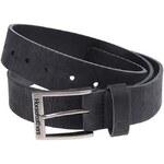 Černý pánský kožený pásek Horsefeathers Duke