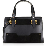 Topshop Leather and Suede Plated Tote