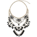 Topshop Premium Rhinestone and Chain Necklace
