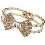 Topshop Premium Rhinestone Bow Bracelet