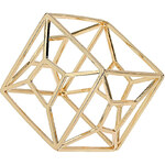 Topshop Gold Cut Out Square Bangle