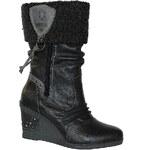 MUSTANG 1083-616 graphit, dámské kozačky, dámská obuv