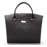 Dámská luxusní kabelka lakovaná černá struktura - Maggio Florida černá